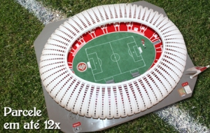 Take home a miniature of this particular stadium which will be the most beautiful in Brazil. Parcel up to 12 times!