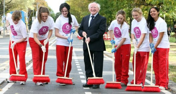 President Higgins attends call for volunteering