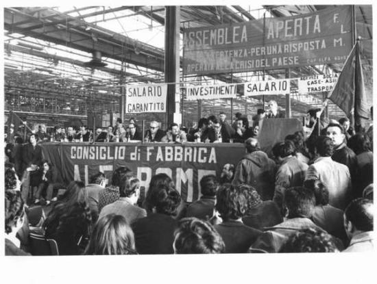 Alfa Romeo - Assemblea aperta del Consiglio di fabbrica - Loconsolo, Silvestre (foto)