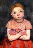 The Girl with Crossed Arms - Paula Modersohn-Becker 1903