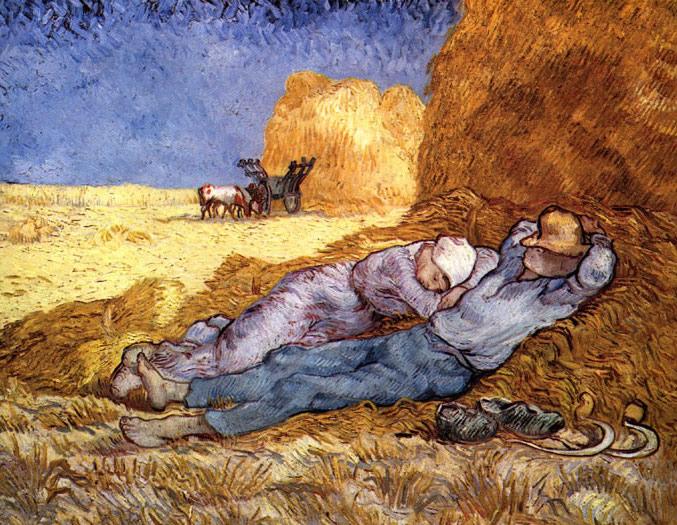 Vincent Van Gogh, Riposo dopo il lavoro, 1890